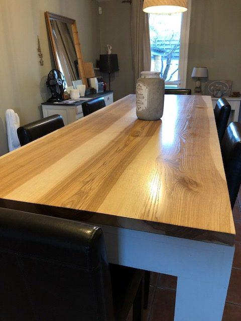 Table haute en bois
